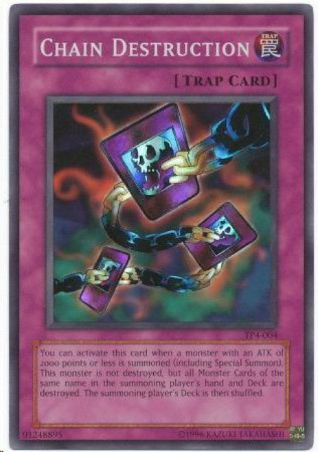 YuGiOh Tournament Pack 4 Super Rare Chain Destruction TP4-004