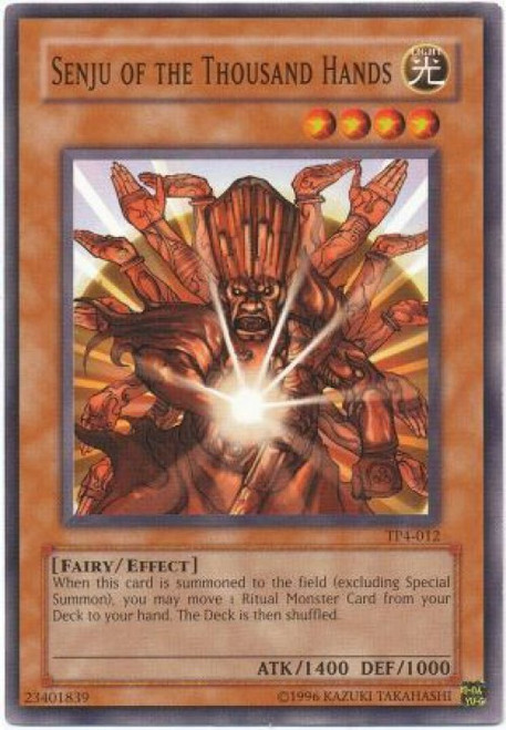 YuGiOh Tournament Pack 4 Common Senju of the Thousand Hands TP4-012