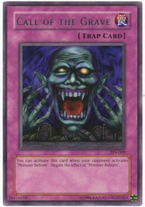 YuGiOh Tournament Pack 4 Rare Call of the Grave TP4-009