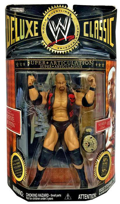 WWE Wrestling Deluxe Classic Superstars Series 1 Stone Cold Steve Austin Action Figure
