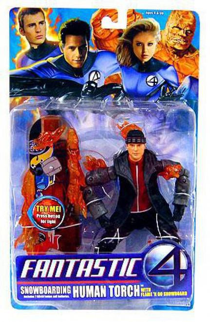 Marvel Fantastic Four Human Torch Action Figure [Snowboarding]