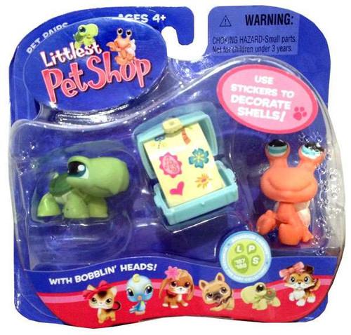 Littlest Pet Shop Pet Pairs Turtle & Hermit Crab Figure 2-Pack