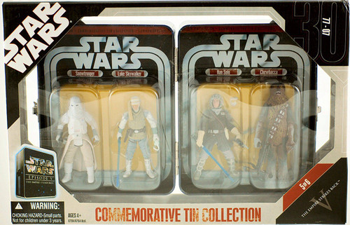 Star Wars The Empire Strikes Back Commemorative Tin Collection Snow Trooper, Luke Sywalker, Han Solo & Chewbacca Exclusive Action Figure 4-Pack #5 of 6