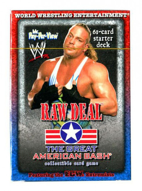 WWE Wrestling Raw Deal Trading Card Game The Great American Bash RVD Mr. Pay Per View Starter Deck