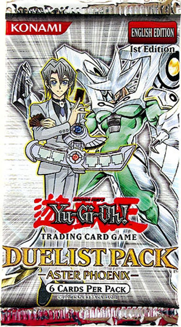 YuGiOh Trading Card Game Duelist Pack Aster Phoenix Booster Pack [6 Cards]