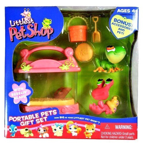 Littlest Pet Shop Portable Pets Tree Frog & Hermit Crab Exclusive Figure 2-Pack