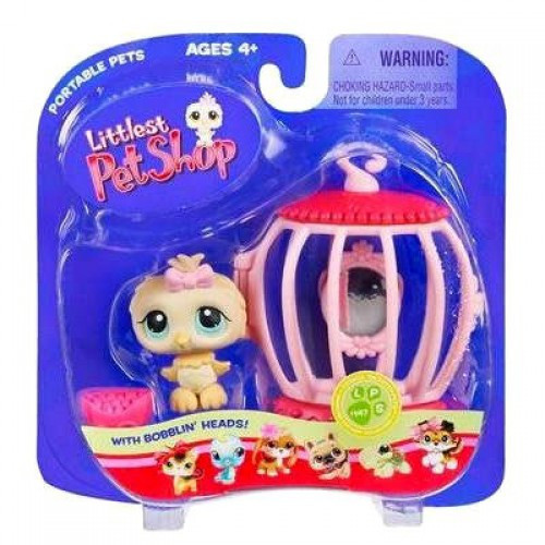 Littlest Pet Shop Portable Pets Canary Bird Figure #147 [With Cage]