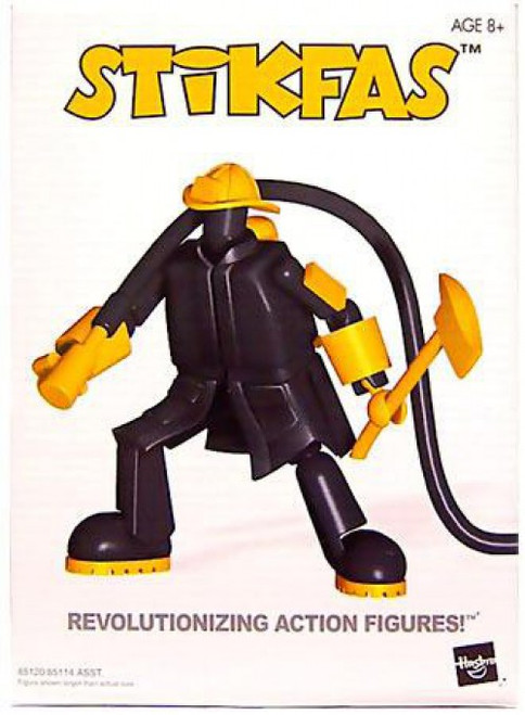 Stikfas Alpha Male Firefighter Action Figure Kit #5