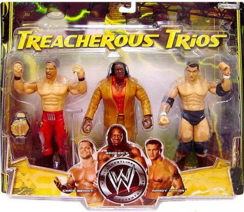 WWE Wrestling Treacherous Trios Series 1 Chris Benoit, Booker T & Randy Orton Exclusive Action Figure 3-Pack