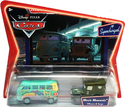 Disney / Pixar Cars Supercharged Movie Moments Fillmore & Sarge Diecast Car 2-Pack