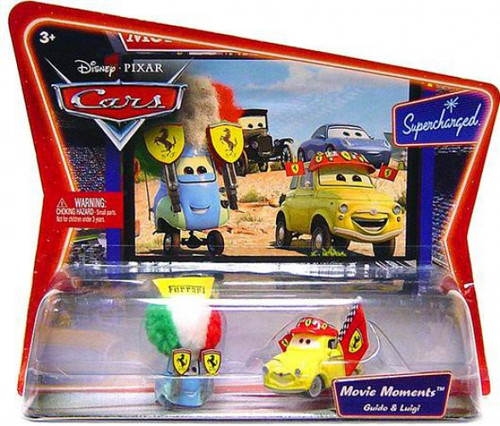 Disney / Pixar Cars Supercharged Movie Moments Luigi & Guido in Ferrari Gear Diecast Car 2-Pack