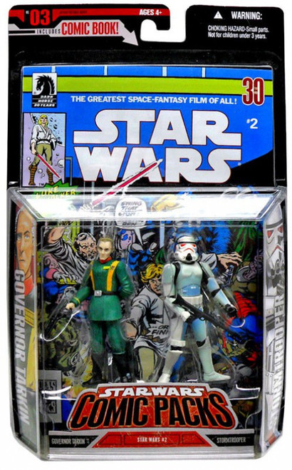 Star Wars A New Hope 2006 Comic Pack Grand Moff Tarkin & Stormtrooper Action Figure 2-Pack