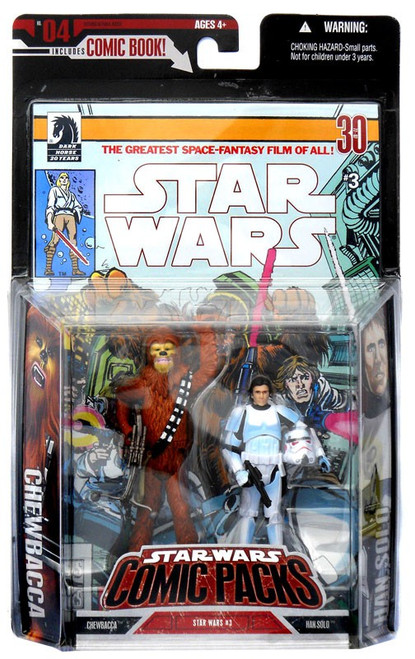 Star Wars A New Hope 2006 Comic Pack Han Solo & Chewbacca Action Figure 2-Pack