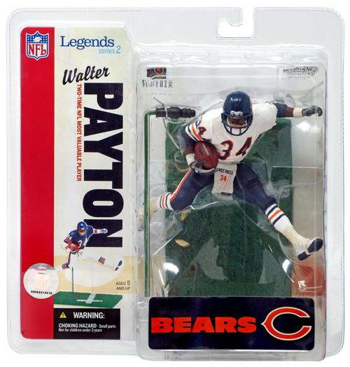 McFarlane Toys NFL Chicago Bears Sports Picks Legends Series 2 Walter Payton Action Figure [White Jersey Variant]