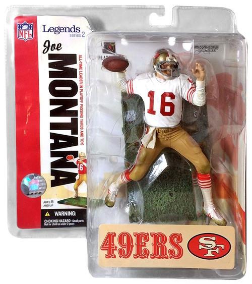 McFarlane Toys NFL San Francisco 49ers Sports Picks Legends Series 2 Joe Montana Action Figure [White Jersey Variant]