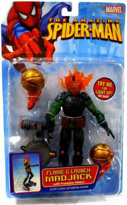 The Amazing Spider-Man Flame & Launch Mad Jack Action Figure