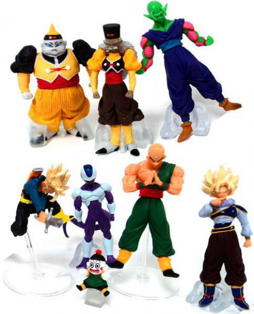 Dragon Ball Z Set of 7 Conflict 3.5-Inch Mini PVC Figures