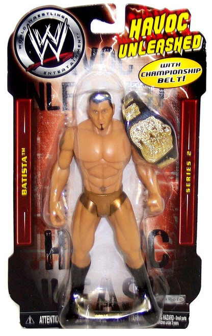WWE Wrestling Havoc Unleashed Series 2 Batista Action Figure