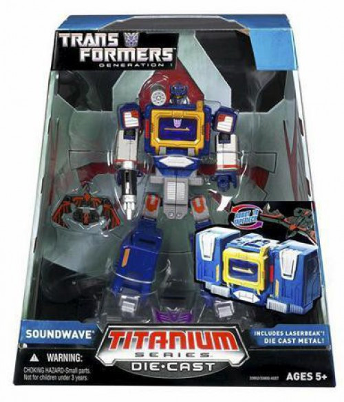 "Transformers Generation 1 TItanium Series Soundwave 6-Inch 6"" Diecast Figure"