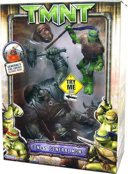 Teenage Mutant Ninja Turtles TMNT Donatello vs. General Mono Action Figure 2-Pack