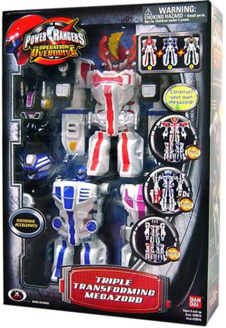 Power Rangers Operation Overdrive Triple Transforming Megazord Action Figure Vehicle