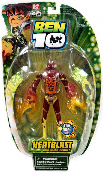 Ben 10 DNA Alien Heroes HeatBlast Action Figure