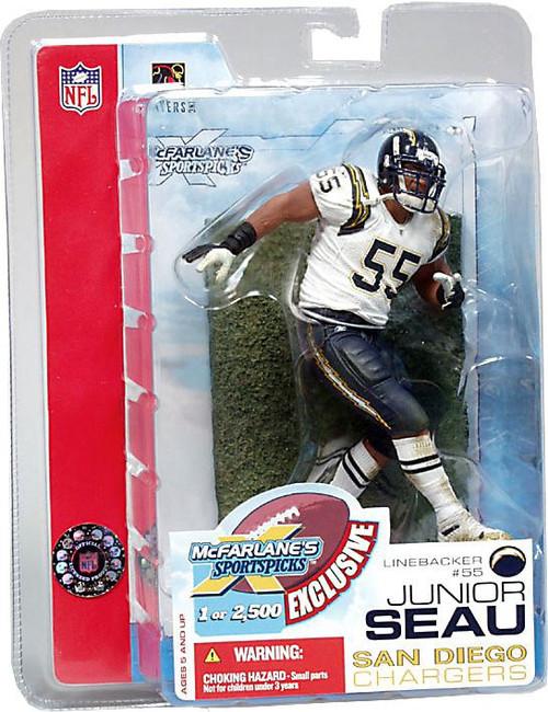 McFarlane Toys NFL San Diego Chargers Sports Picks Junior Seau Exclusive Action Figure [Super Bowl XXXVII]
