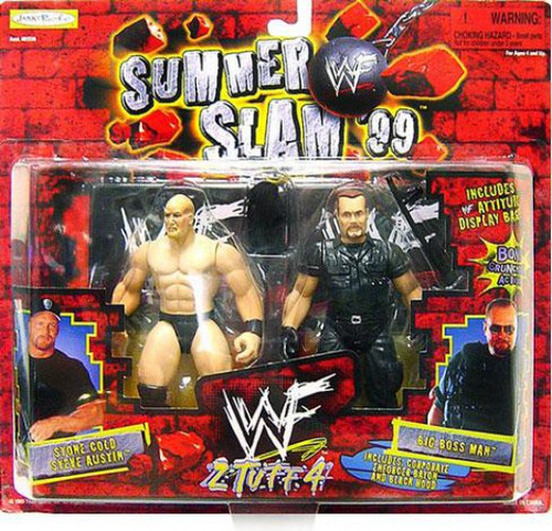 WWE Wrestling Summer Slam '99 Stone Cold Steve Austin Vs. Big Boss Man Action Figure 2-Pack