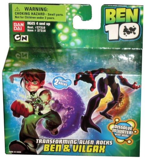 Ben 10 Transforming Alien Rocks Ben & Vilgax 1-Inch Mini Figure Set