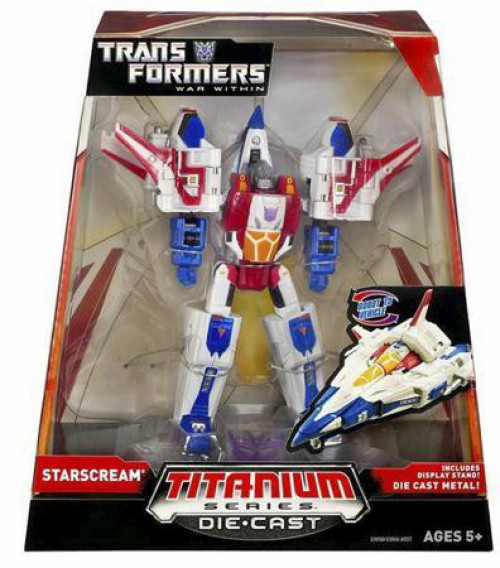 """Transformers War Within TItanium Series Starscream 6-Inch 6"""" Diecast Figure"""