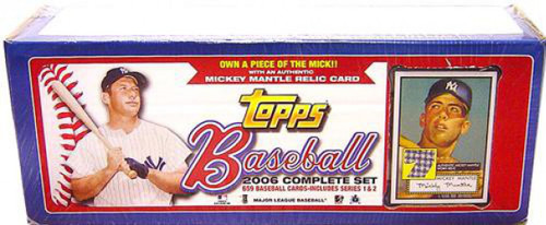 MLB New York Yankees 2006 Topps Baseball Cards Exclusive Complete Set [Mantle Patch Card]