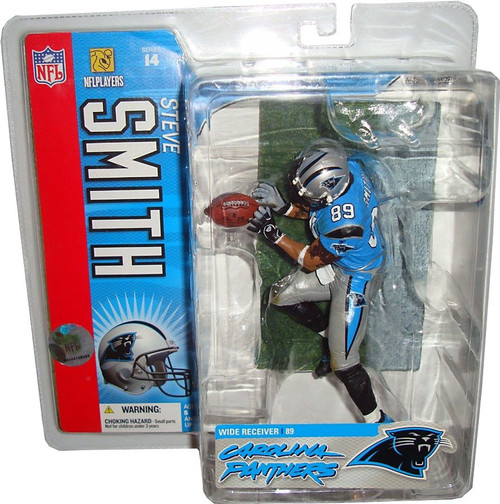 McFarlane Toys NFL Carolina Panthers Sports Picks Series 14 Steve Smith Action Figure [Blue Jersey Variant]