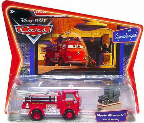 Disney / Pixar Cars Supercharged Movie Moments Red the Firetruck & Stanley Diecast Car 2-Pack