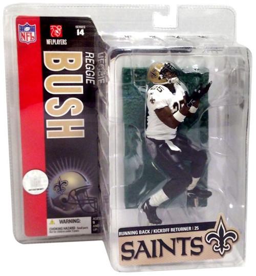McFarlane Toys NFL New Orleans Saints Sports Picks Series 14 Reggie Bush Action Figure [White Jersey Variant]