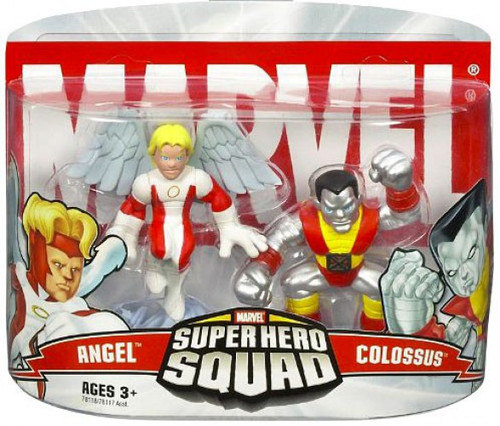 Marvel Super Hero Squad Series 1 Colossus & Angel 3-Inch Mini Figure 2-Pack
