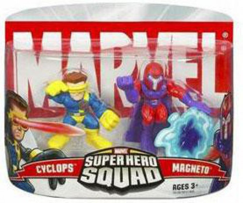 Marvel Super Hero Squad Series 1 Magneto & Cyclops 3-Inch Mini Figure 2-Pack