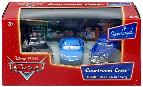Disney / Pixar Cars Supercharged Courtroom Crew Diecast Car Set