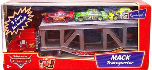 Disney / Pixar Cars Supercharged Mack Transporter Diecast Car Playset
