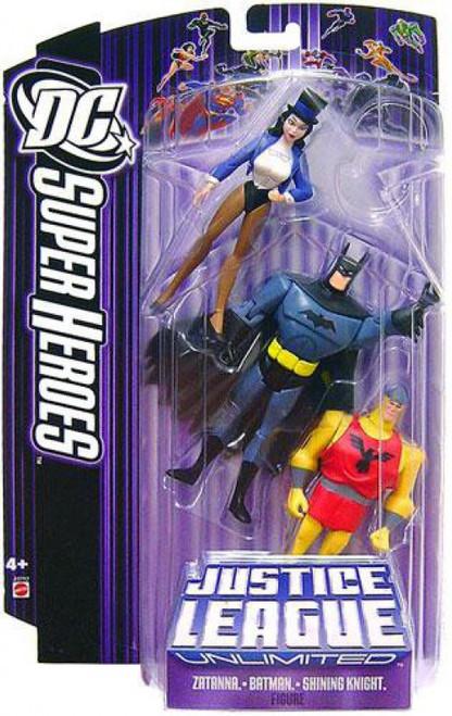 DC Justice League Unlimited Super Heroes Zatanna, Batman & Shining Knight Action Figures [Purple Card]