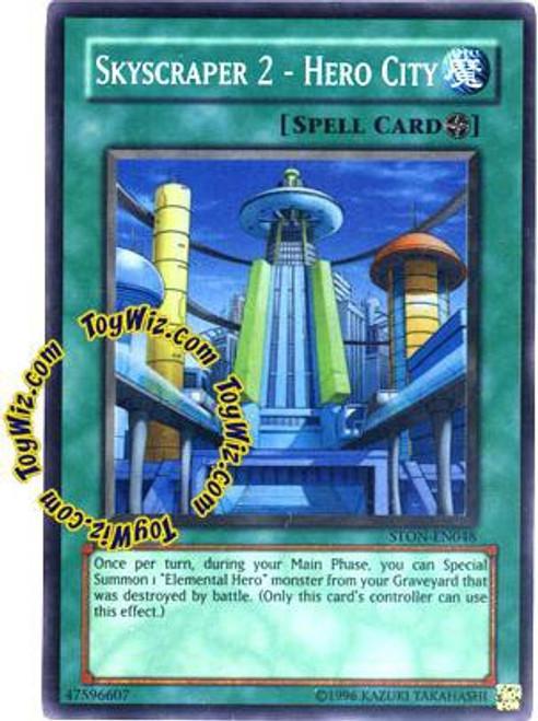 YuGiOh GX Trading Card Game Strike of Neos Super Rare Skyscraper 2 - Hero City STON-EN048