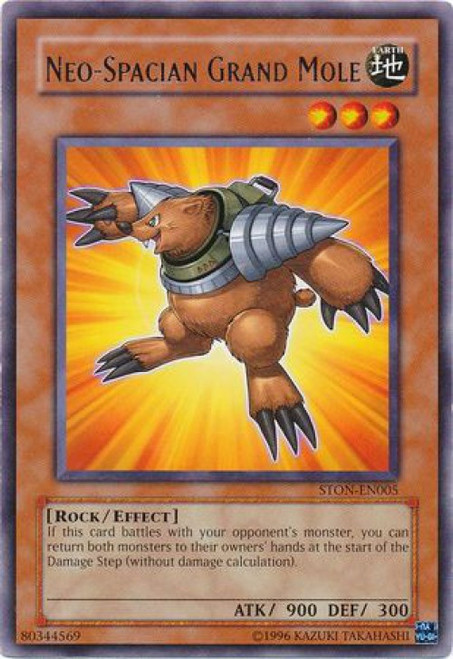 YuGiOh GX Trading Card Game Strike of Neos Rare Neo-Spacian Grand Mole STON-EN005