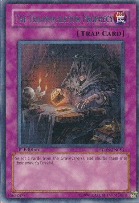 YuGiOh GX Trading Card Game Strike of Neos Rare The Transmigration Prophecy STON-EN054
