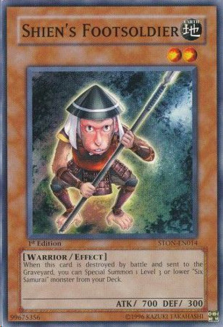 YuGiOh GX Trading Card Game Strike of Neos Common Shien's Footsoldier STON-EN014