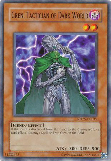 YuGiOh GX Trading Card Game Strike of Neos Common Gren, Tactician of Dark World STON-EN019