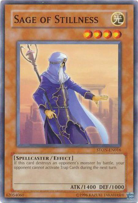 YuGiOh GX Trading Card Game Strike of Neos Common Sage of Stillness STON-EN016