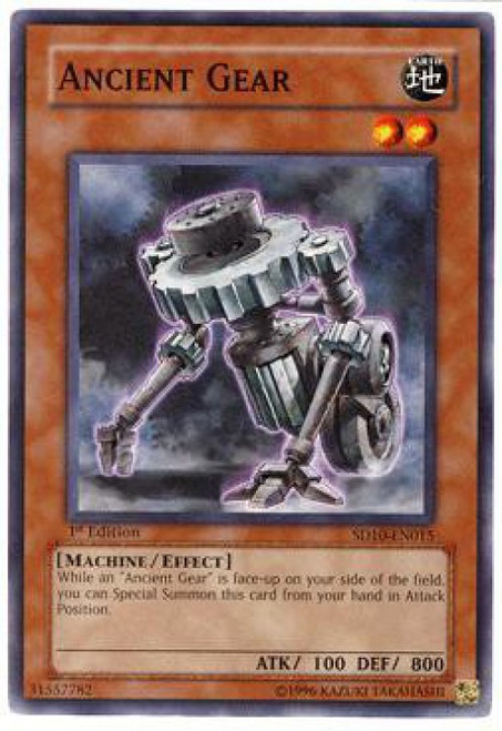 YuGiOh GX Trading Card Game Structure Deck: Machine Re-Volt Common Ancient Gear SD10-EN015