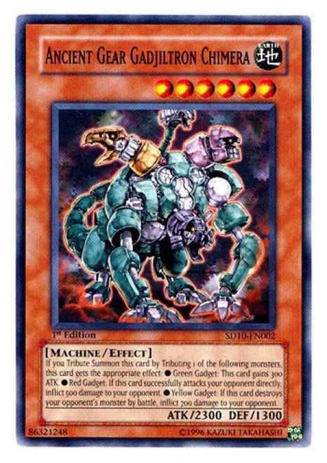 YuGiOh GX Trading Card Game Structure Deck: Machine Re-Volt Common Ancient Gear Gadjiltron Chimera SD10-EN002