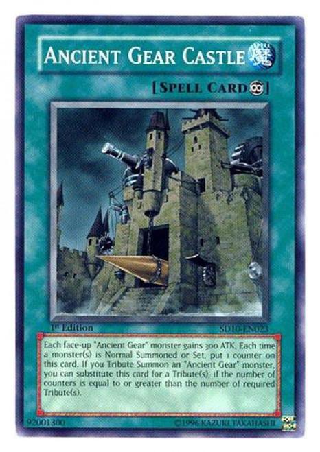 YuGiOh GX Trading Card Game Structure Deck: Machine Re-Volt Common Ancient Gear Castle SD10-EN023