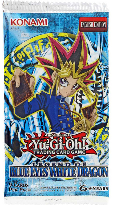 YuGiOh Trading Card Game Legend of Blue Eyes White Dragon (Unlimited) Booster Pack [9 Cards]