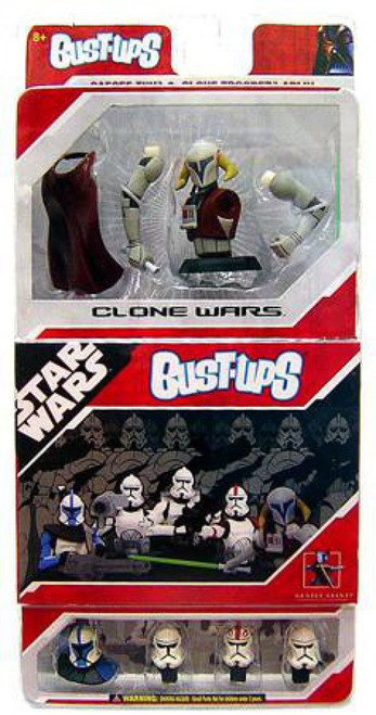 Star Wars The Clone Wars Bust-Ups Clone Wars Micro Bust Set